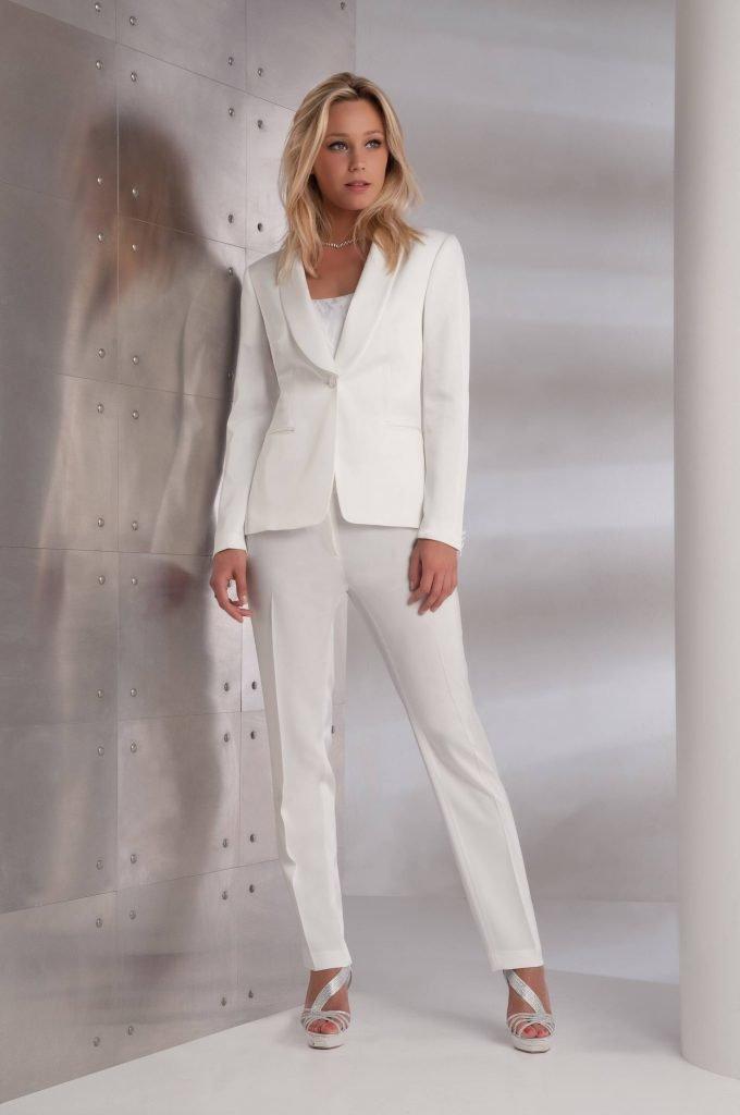 Tailleur pantalon veste de ceremonie pour femme