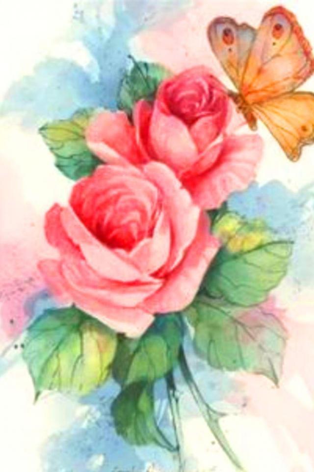 Картинках, розы для открытки нарисовать