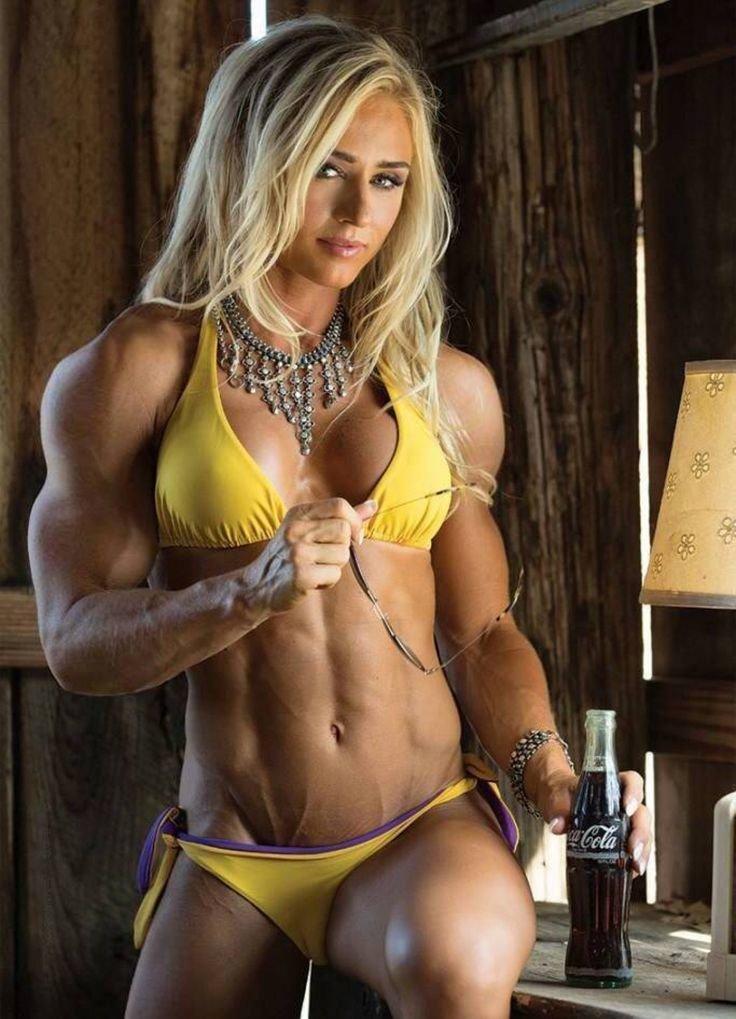 Naked female fitness model