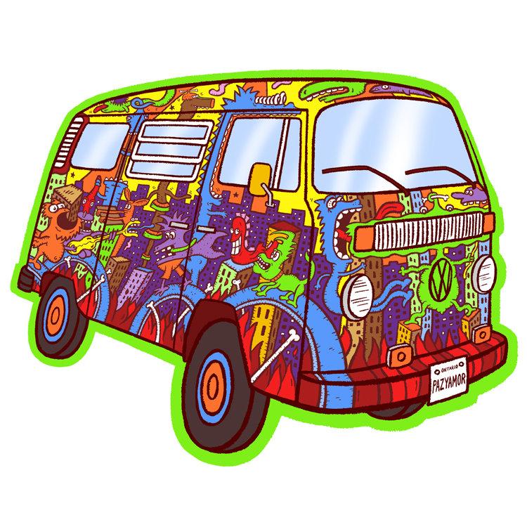 Easy Hippie Van Drawing Golfclub