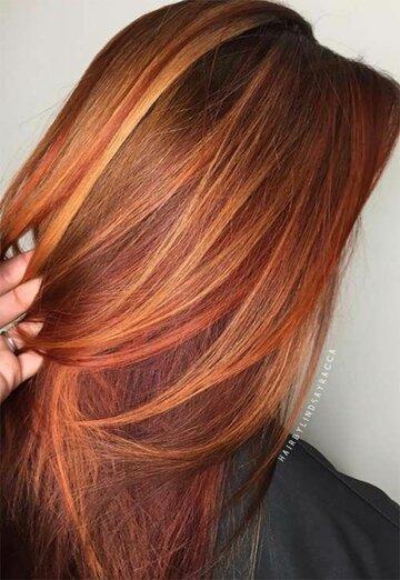 Прически, стрижки и укладки для медных оттенков волос: 15 великолепных идей картинки