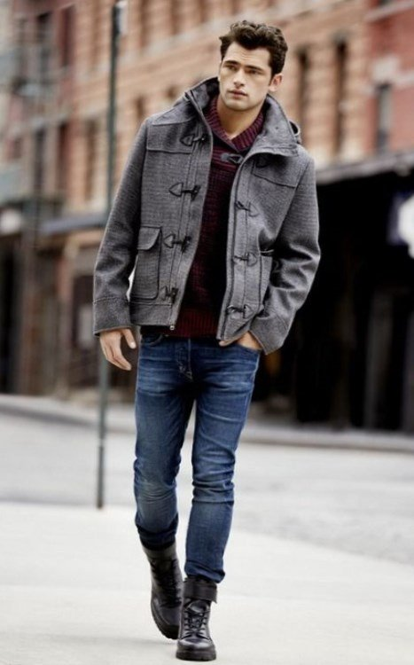 cac94120566 С чем носить серое пальто мужчинам. Как носить шарф с мужским пальто ...