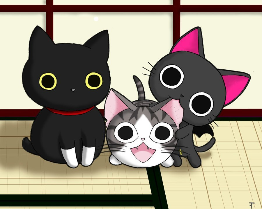 Аниме картинки про котов