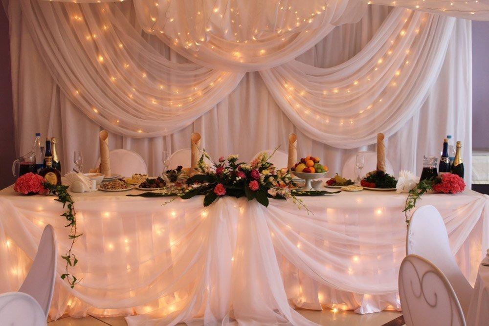 Украшением свадебного стола в картинках