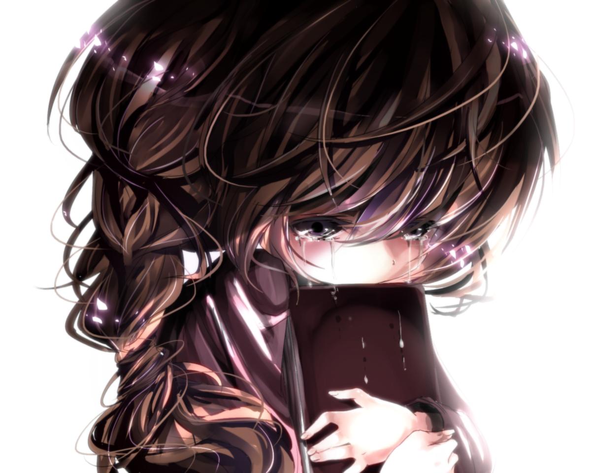 anime girl crying