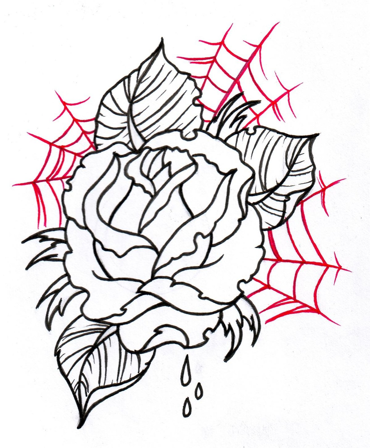 32bba6640 Traditional Rose Outline Drawing - ClipArt Best