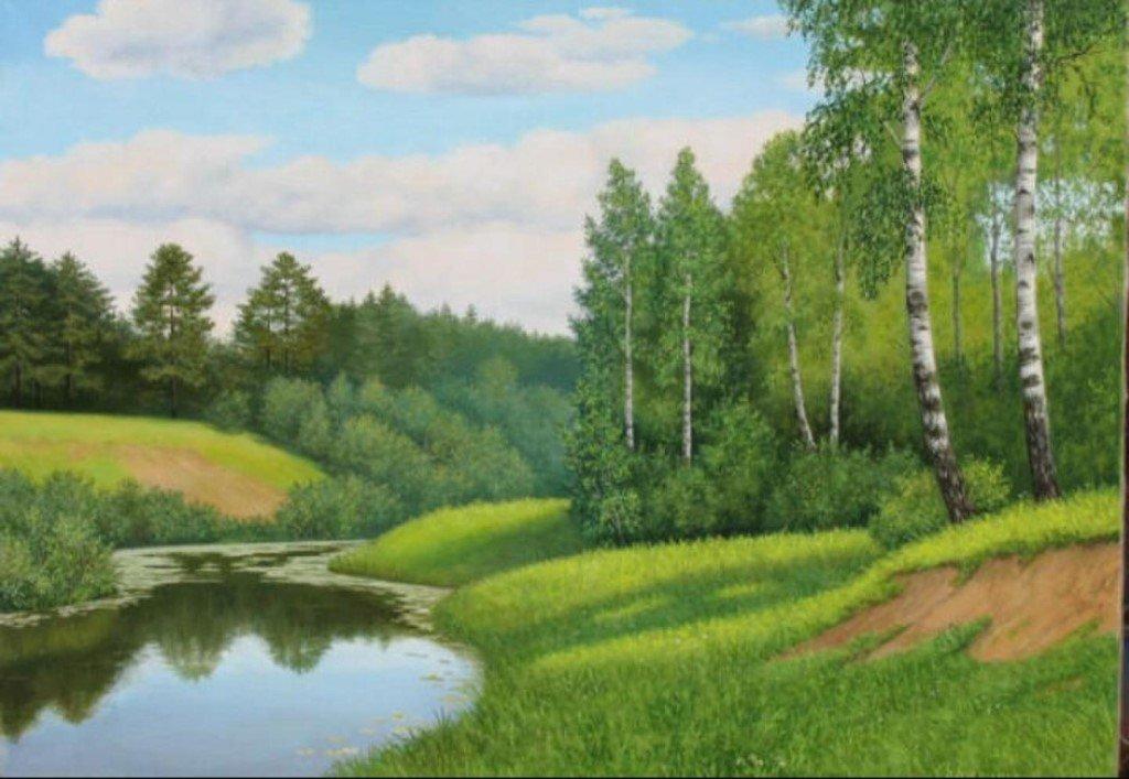 лето природа рисунок ветровки актуальная