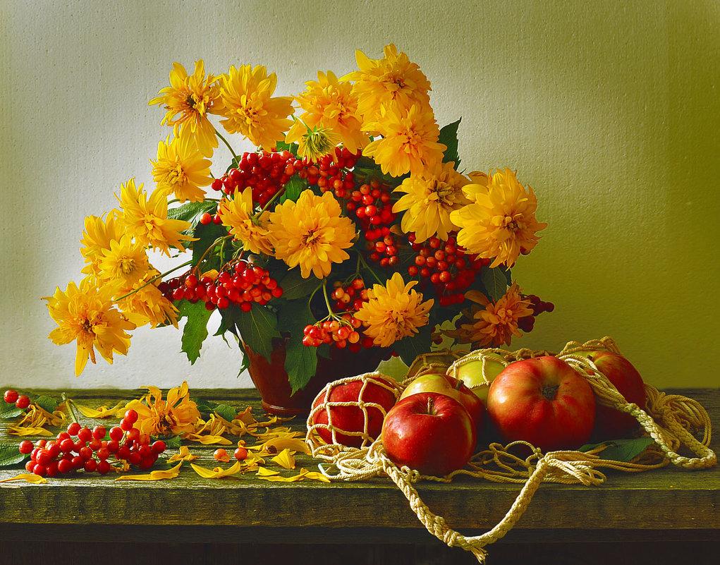 Открытки с осенними букетами цветов