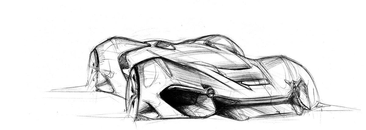 Картинки автомобиль будущего карандашом