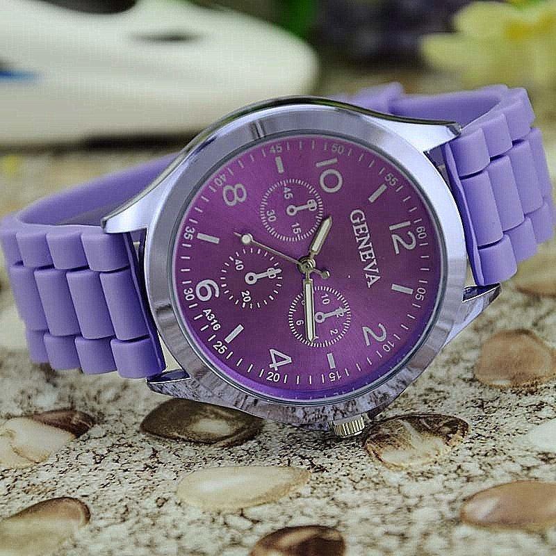 Часы с силиконовым ремешком geneva стали очень популярны у людей различных возрастных категорий, профессий, увлечений.
