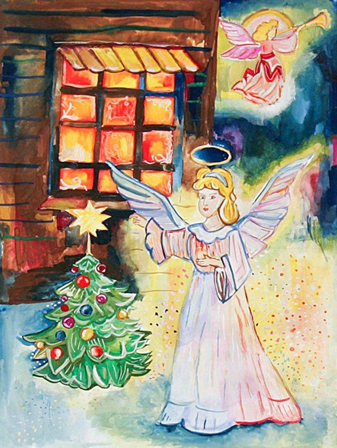 Черно белые, рождественские картинки детские