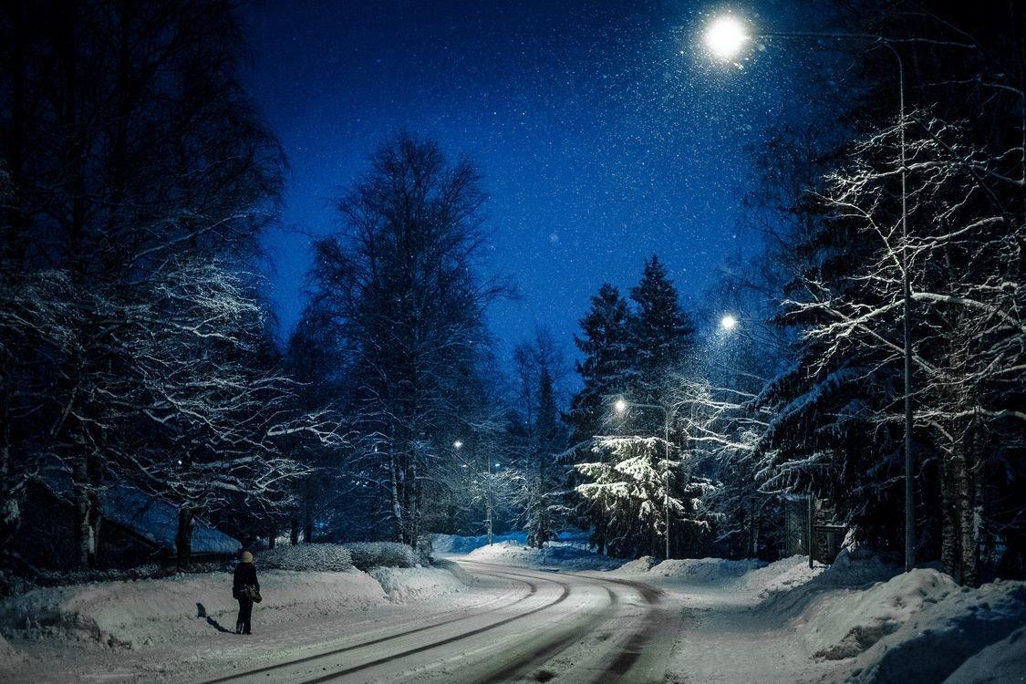 красивые картинки ночь зима снег многие