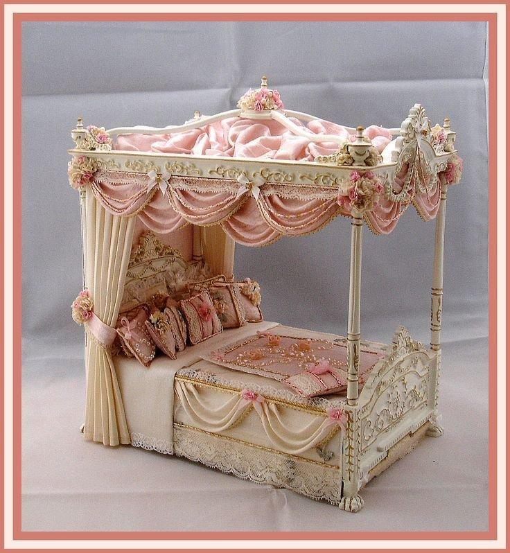 картинка кровать для кукольного домика добрый, хочу попробовать