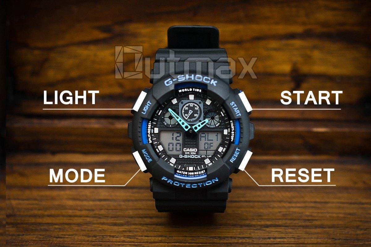 Итак, большинство моделей часов g-shock имеют четыре стандартные кнопки управления функциями.