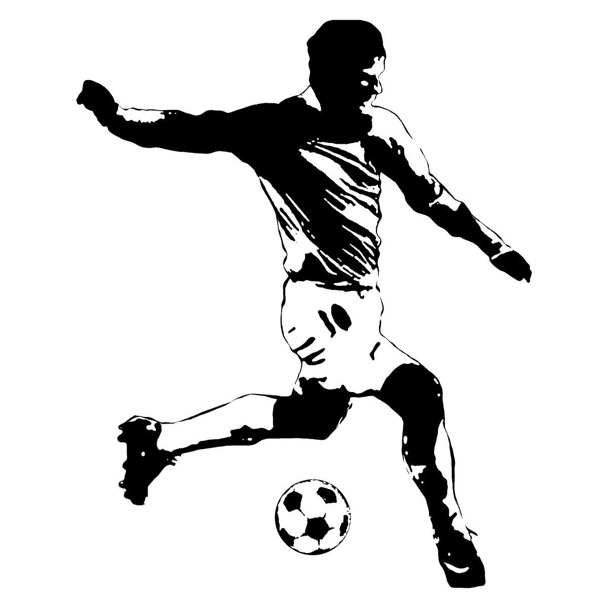 картинки про футбол черно белые пробковое