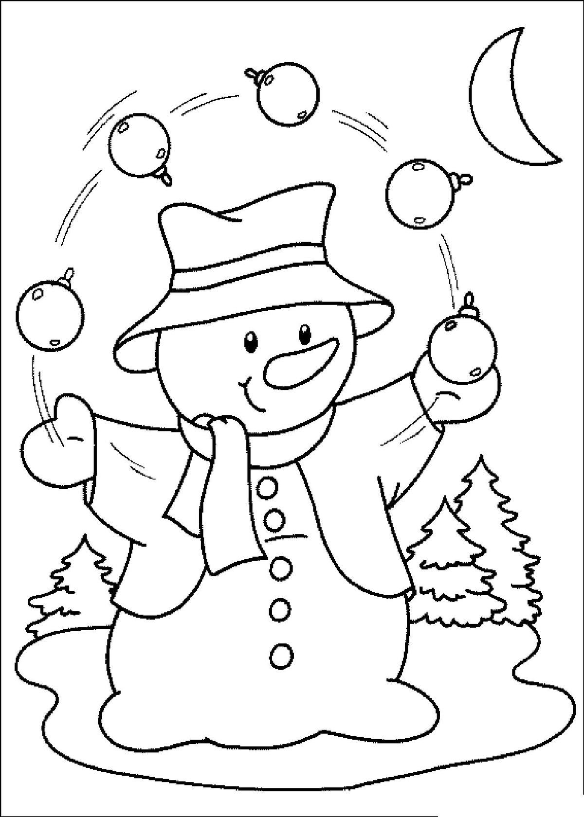 Разукрасить открытку на новый год