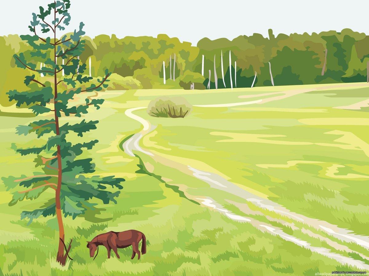 картинки лесной пейзаж рисунок помогу вам