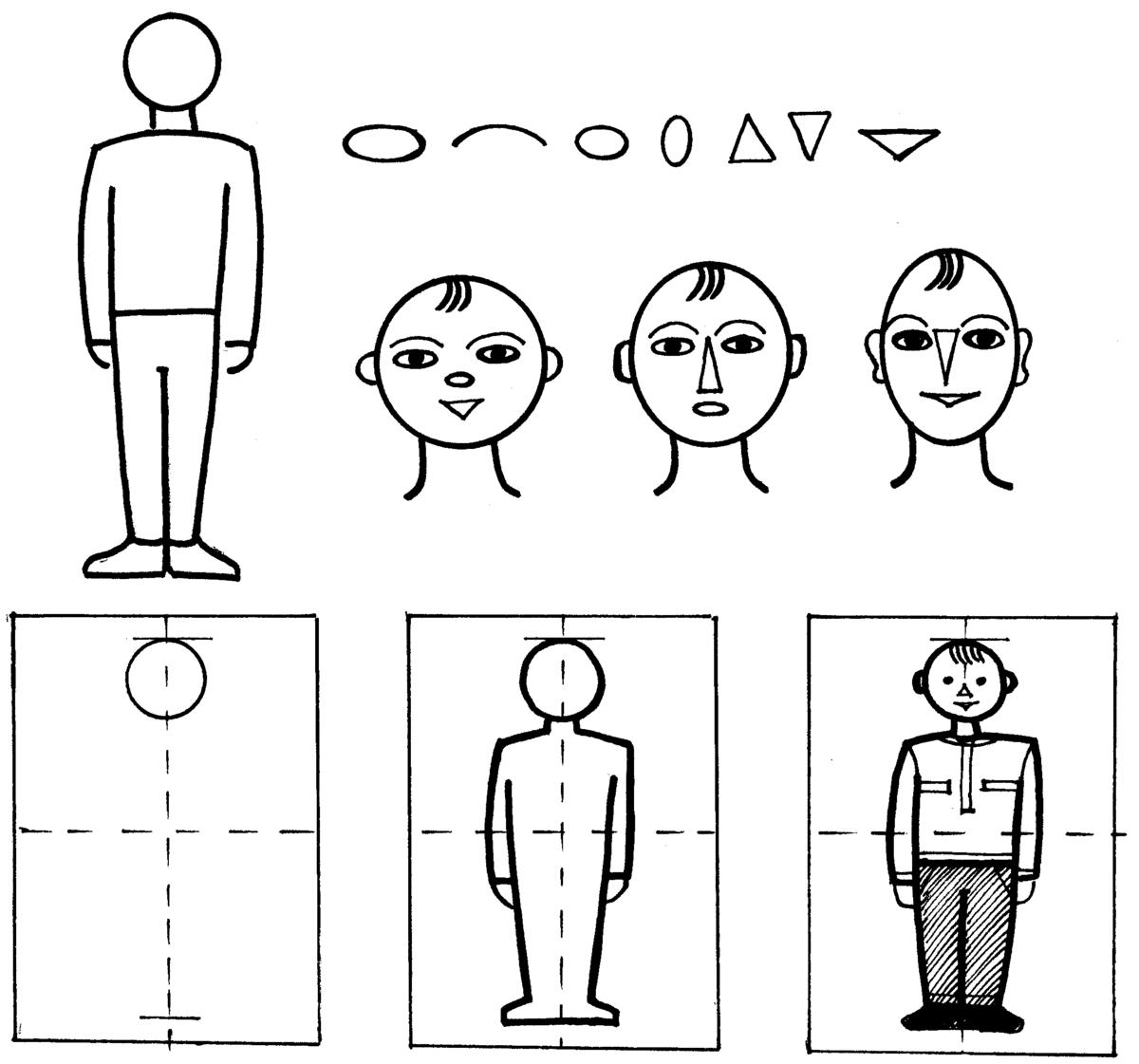 Картинки схема изображения человека