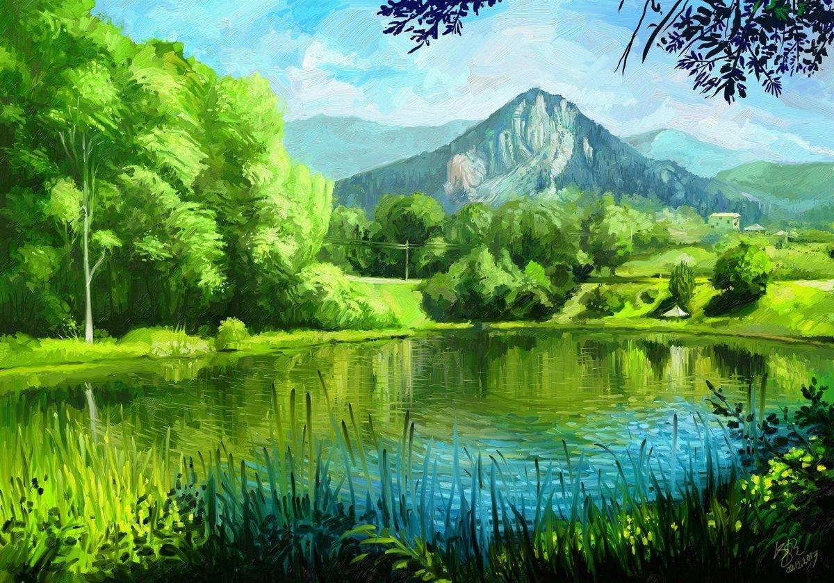 Солнечной, нарисованные картинки о природе