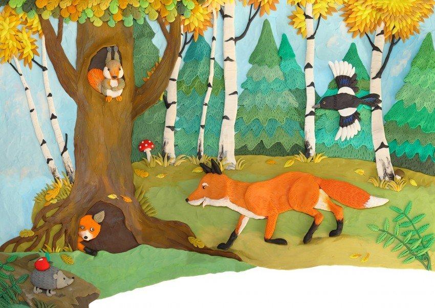 Лесные животные осенью картинки для детей