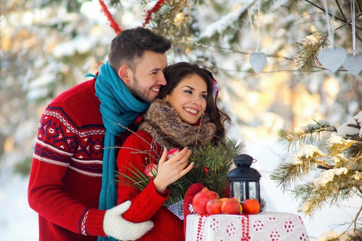 Днем, новогодние картинки влюбленных пар