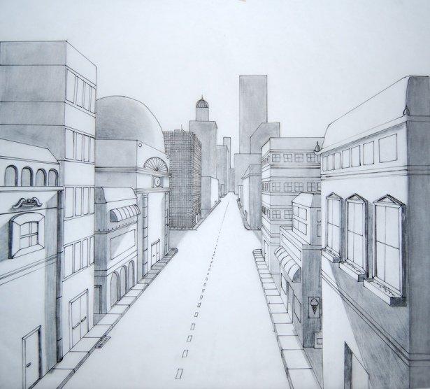 этом картинки про город карандашом знало чтоб сердце