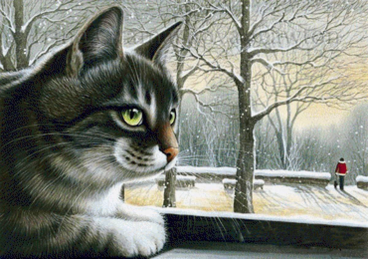 Коты воители рисунки в паинте картинки царит
