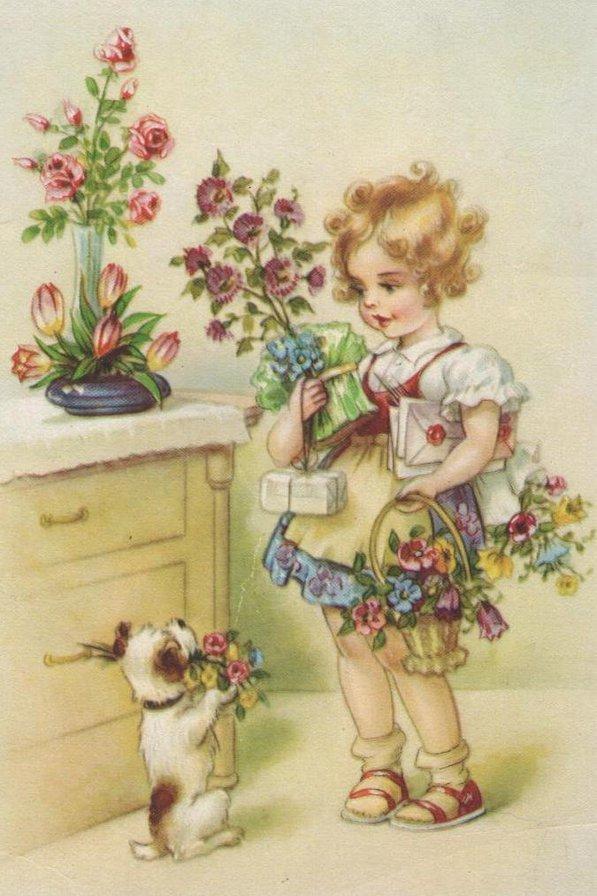 Открытки винтажные с днем рождения девушке, встречающие картинки