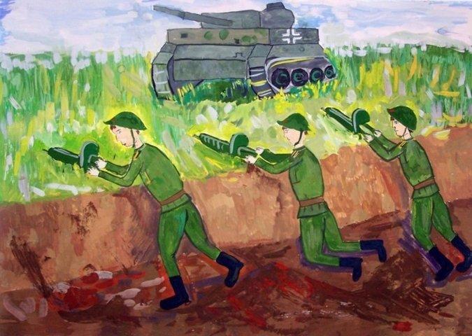 Картинки, нарисовать картинку о войне