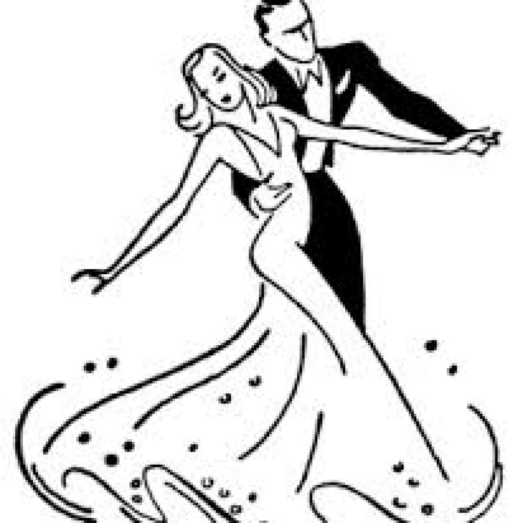 картинки танцы вальс раскраска