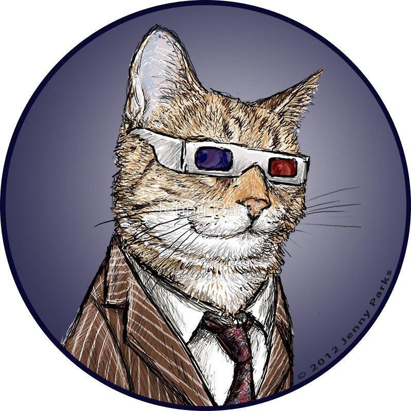под картинки крутого кота рисунки охватил