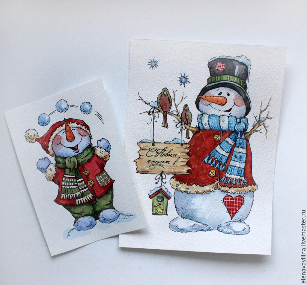 Брачной ночи, рисунок в виде открытки на новый год