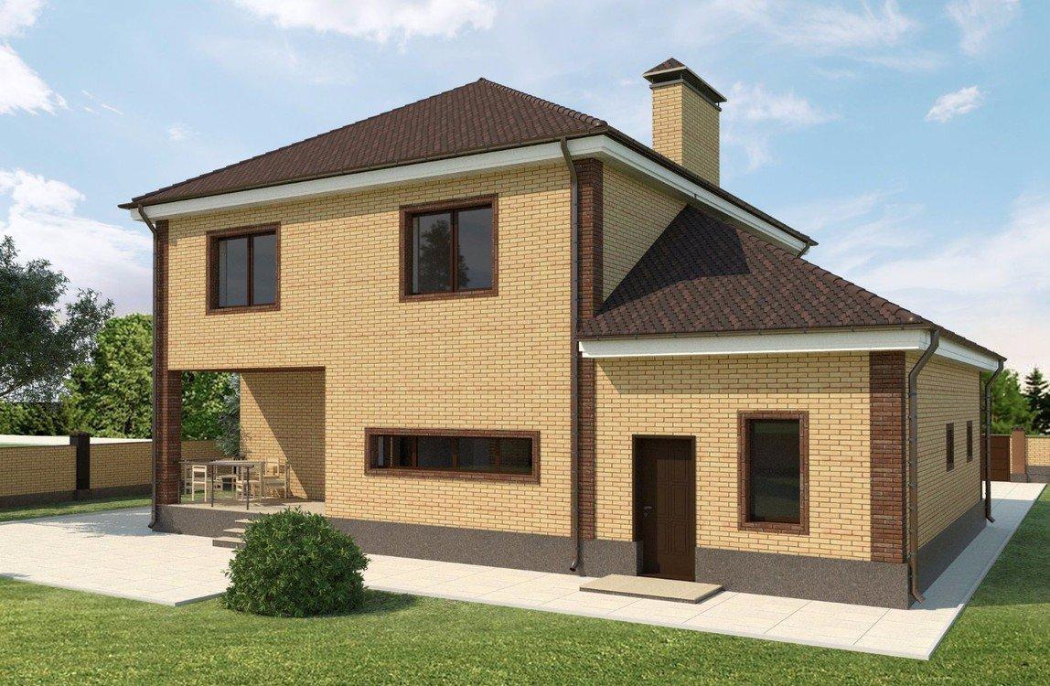 двухэтажный дом с гаражом проект и фото касается