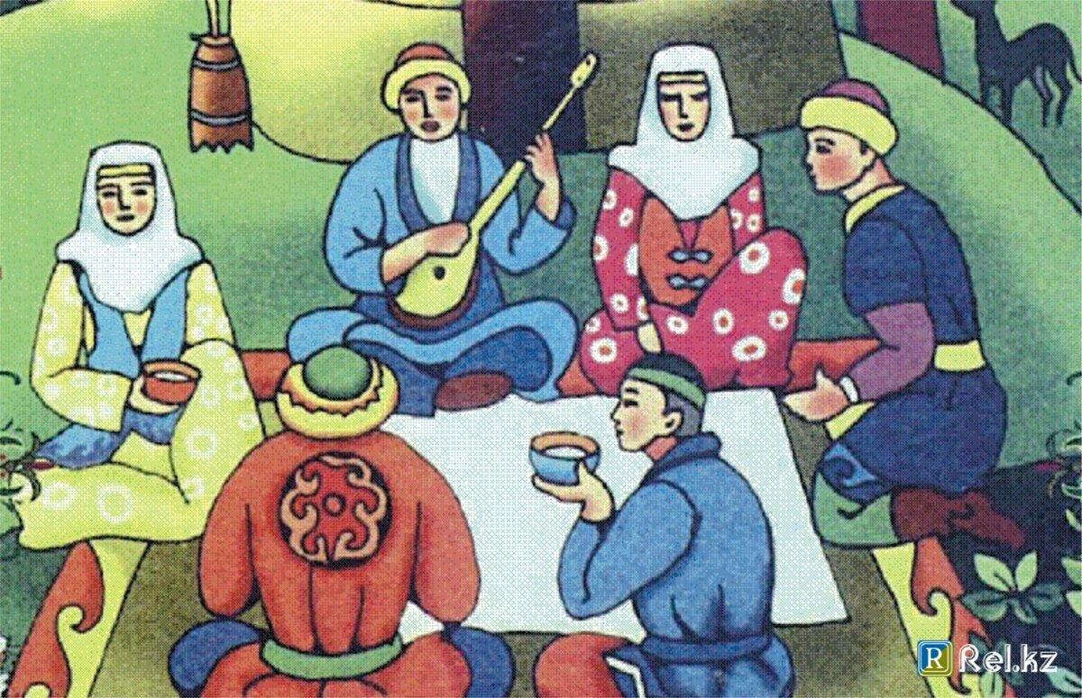 казахские обряды в картинках работы