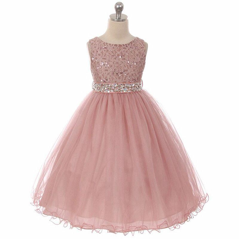 d8882b1b280 ... MAUVE Flower Girl Dress Graduation Dance Bridesmaid Party Recital  Birthday Prom - Платья