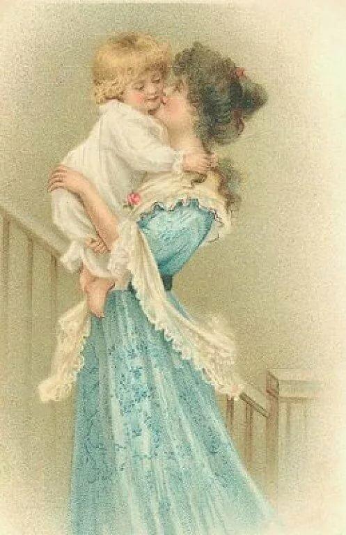 Поздравление с днем рождения сына маме открытки старинные, картинки анимашки