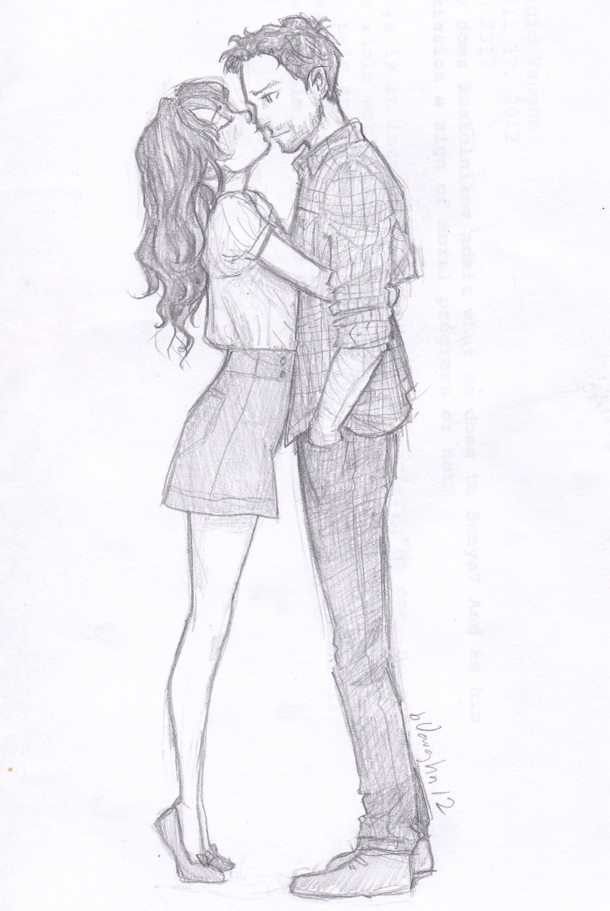 Влюбленные нарисованные карандашом картинки
