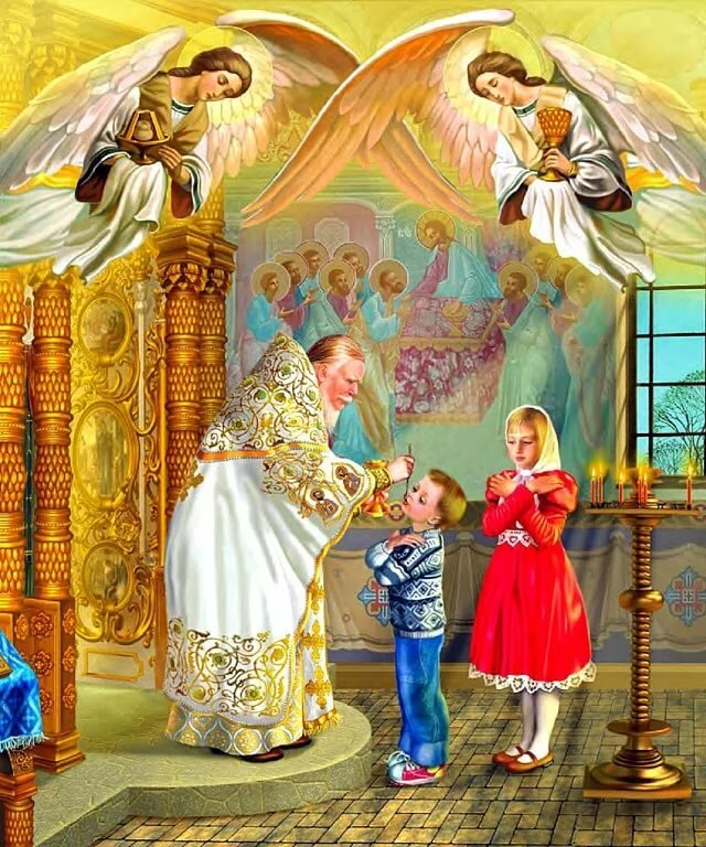 Картинка с причастием, рождеством святителя николая