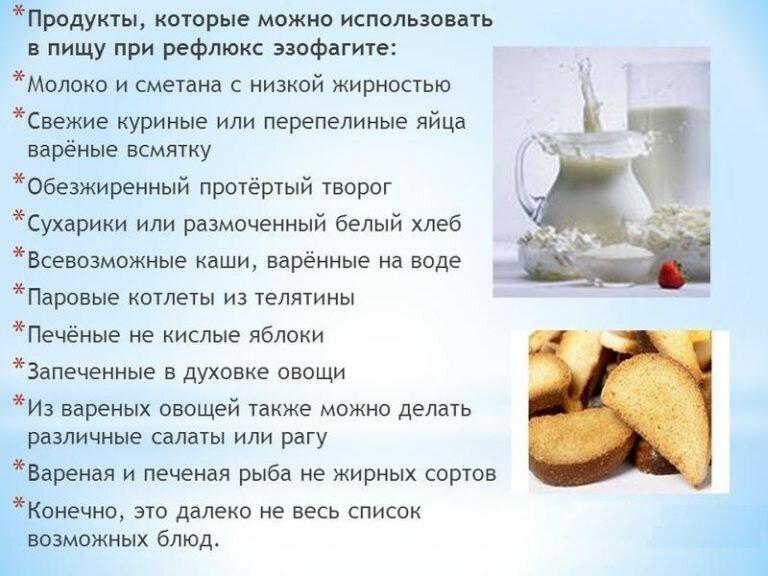 рефлюкс эзофагит диета