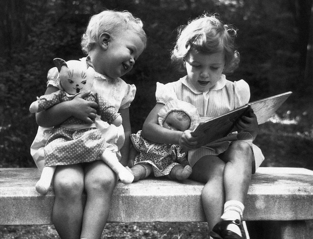 Ретро картинки дети черно белые, дню