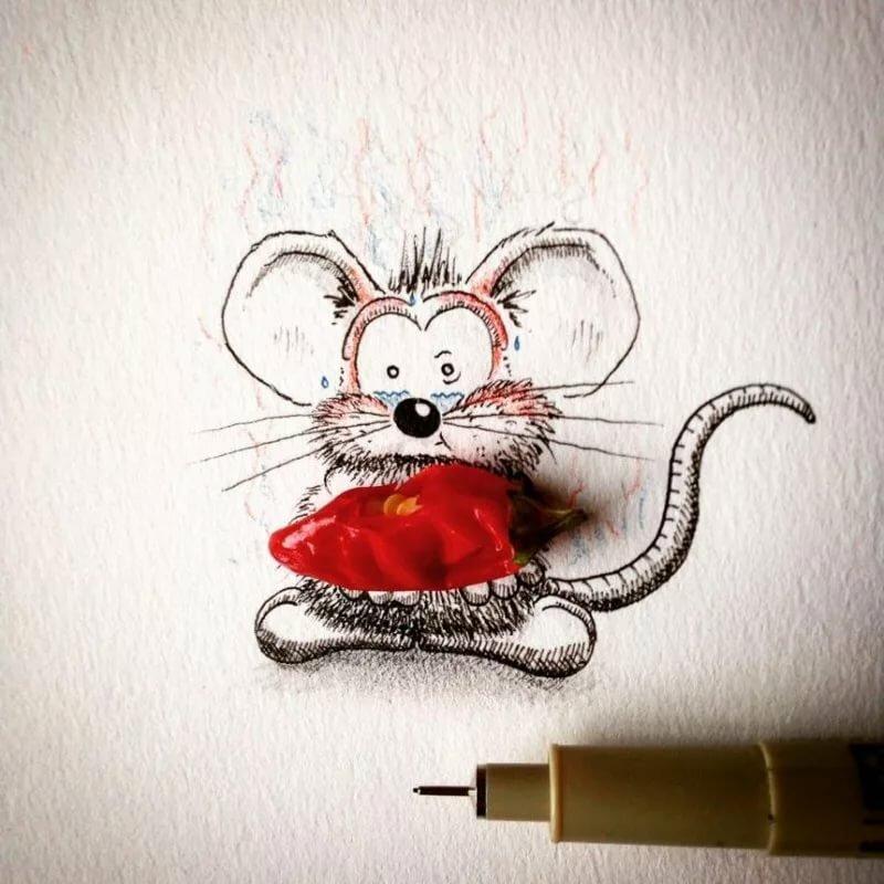 Картинки гаража, мышки рисунки прикольные