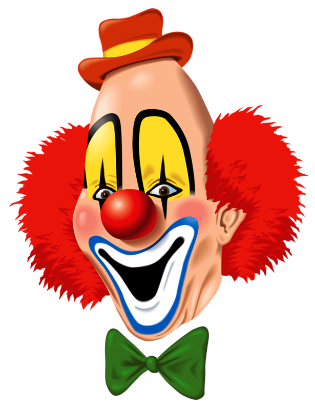 Смешные рисунки клоунов, дню бухгалтера