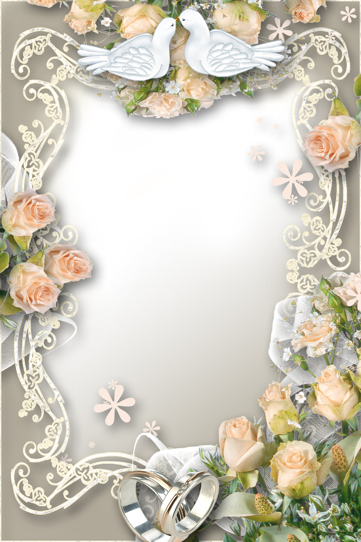 Свадебная открытка рамка