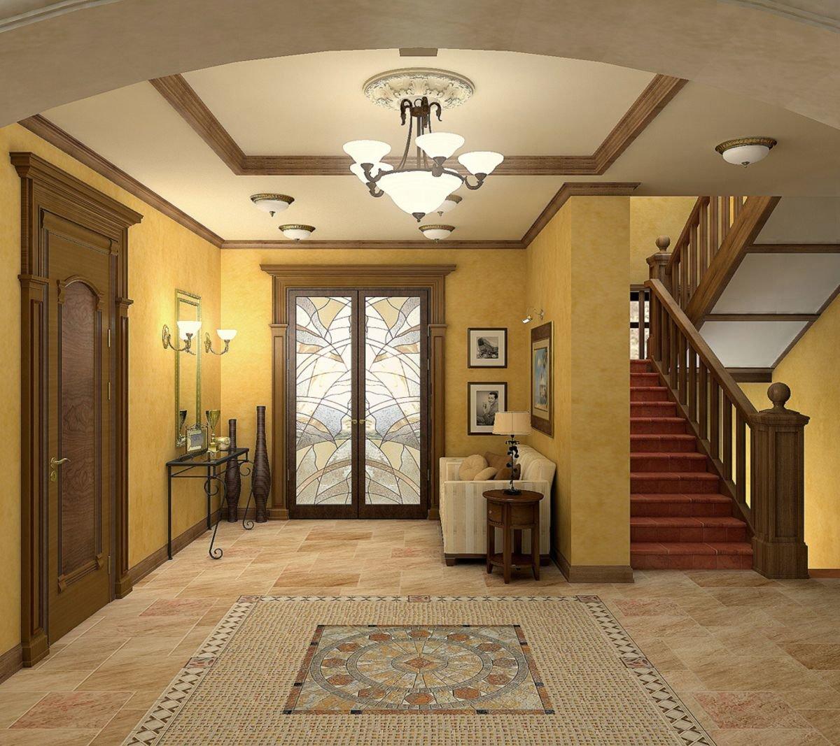 при выборе как выглядит холл в доме фото этом