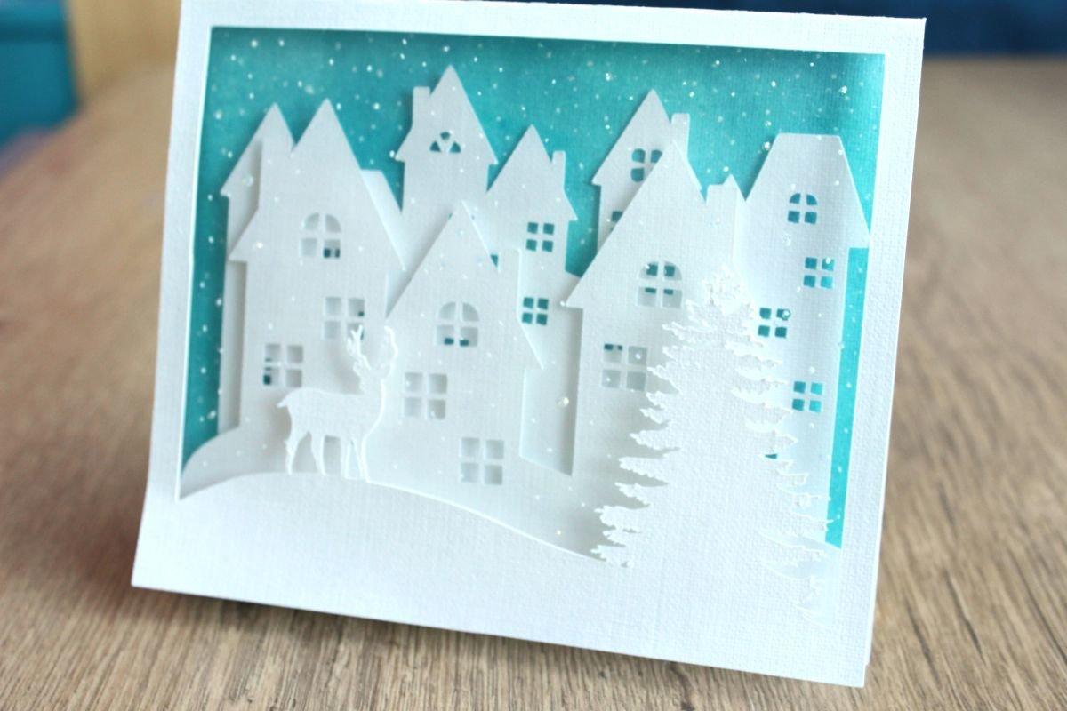 Спокойной ночи, объемная открытка с новым годом