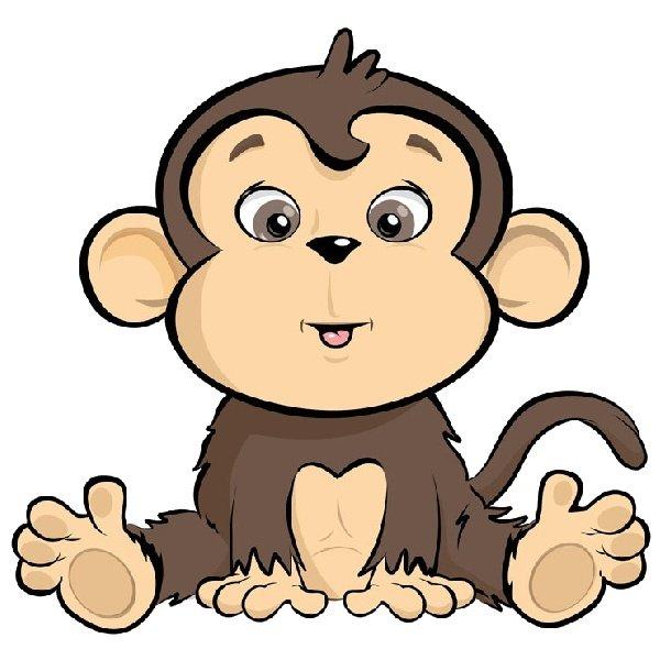 Прикольная обезьянка рисунок, гифы прикольные