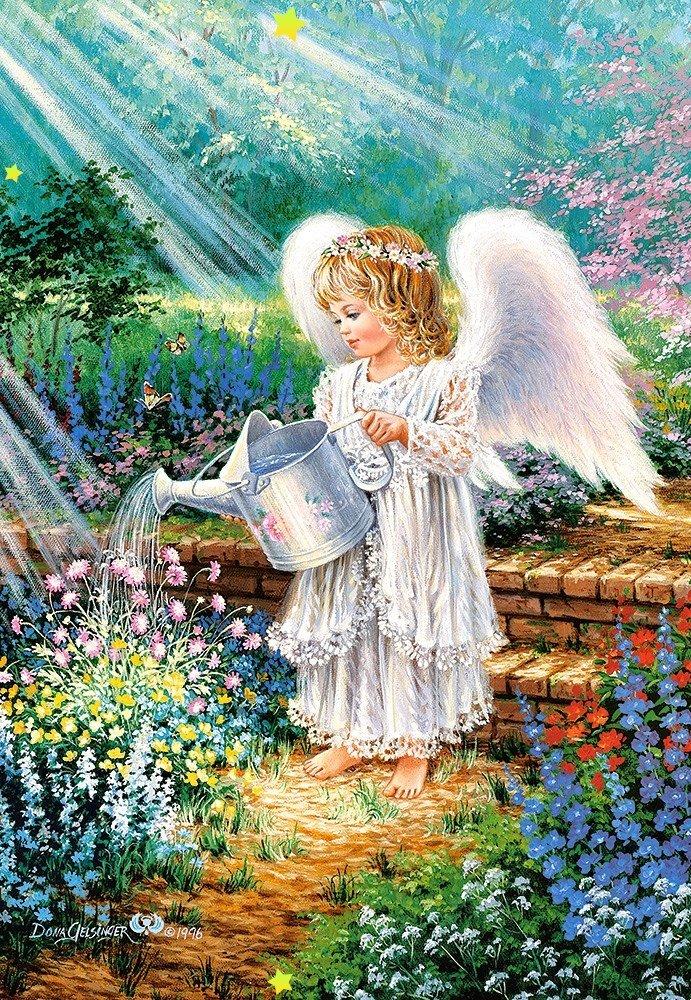 Открытки изображением ангелы