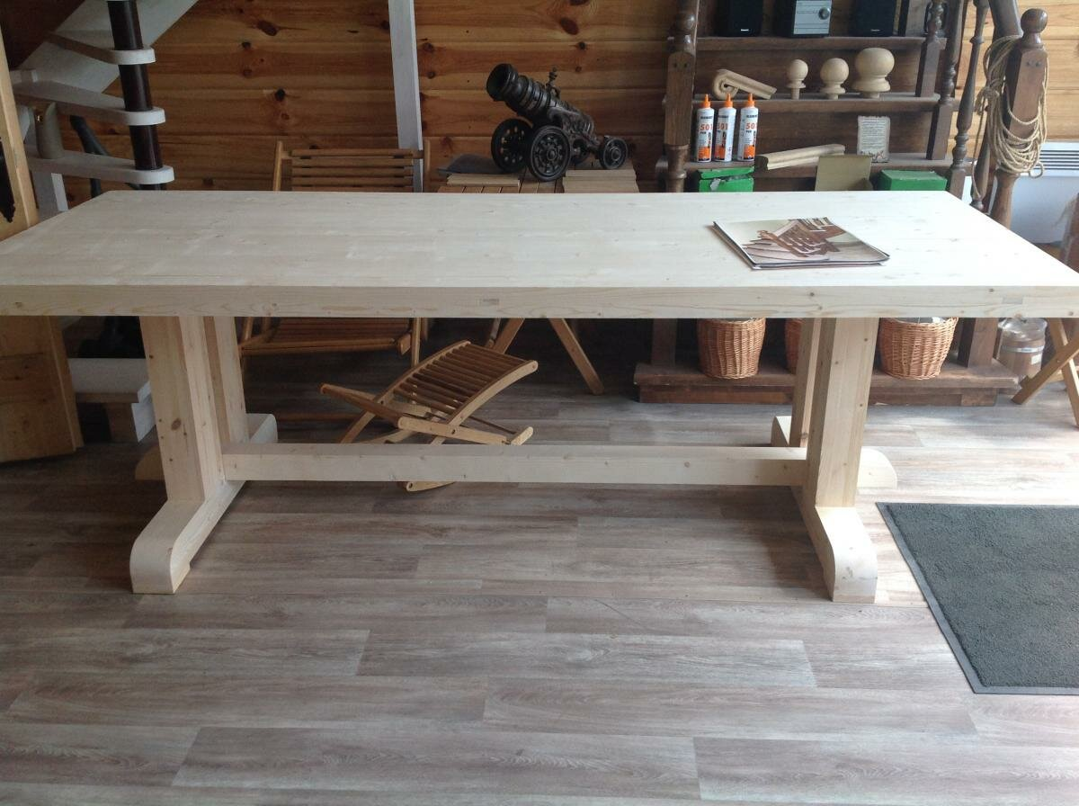Фото деревянных столов сделанных своими руками