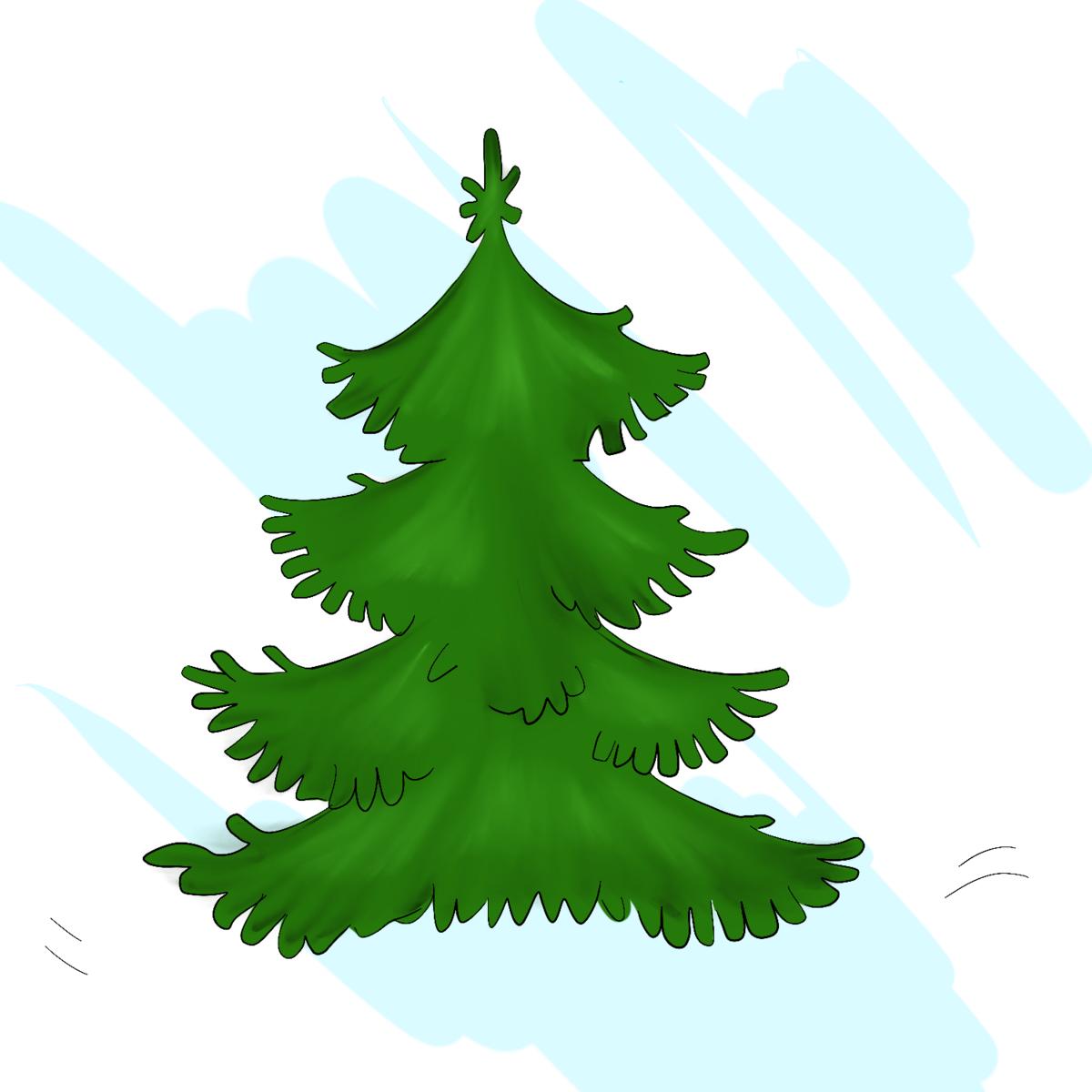 Зимние елки картинки для детей