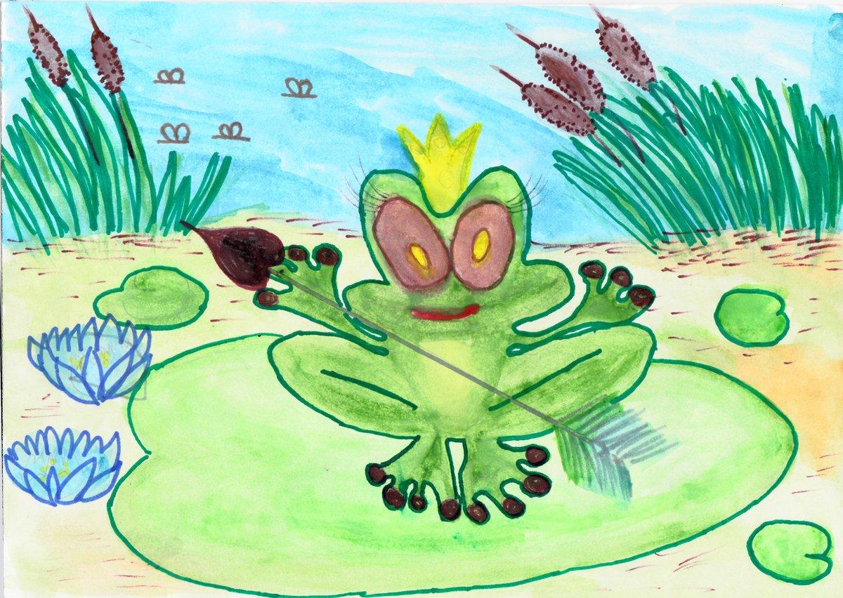 Лягушка царевна картинки карандашом, картинки детский